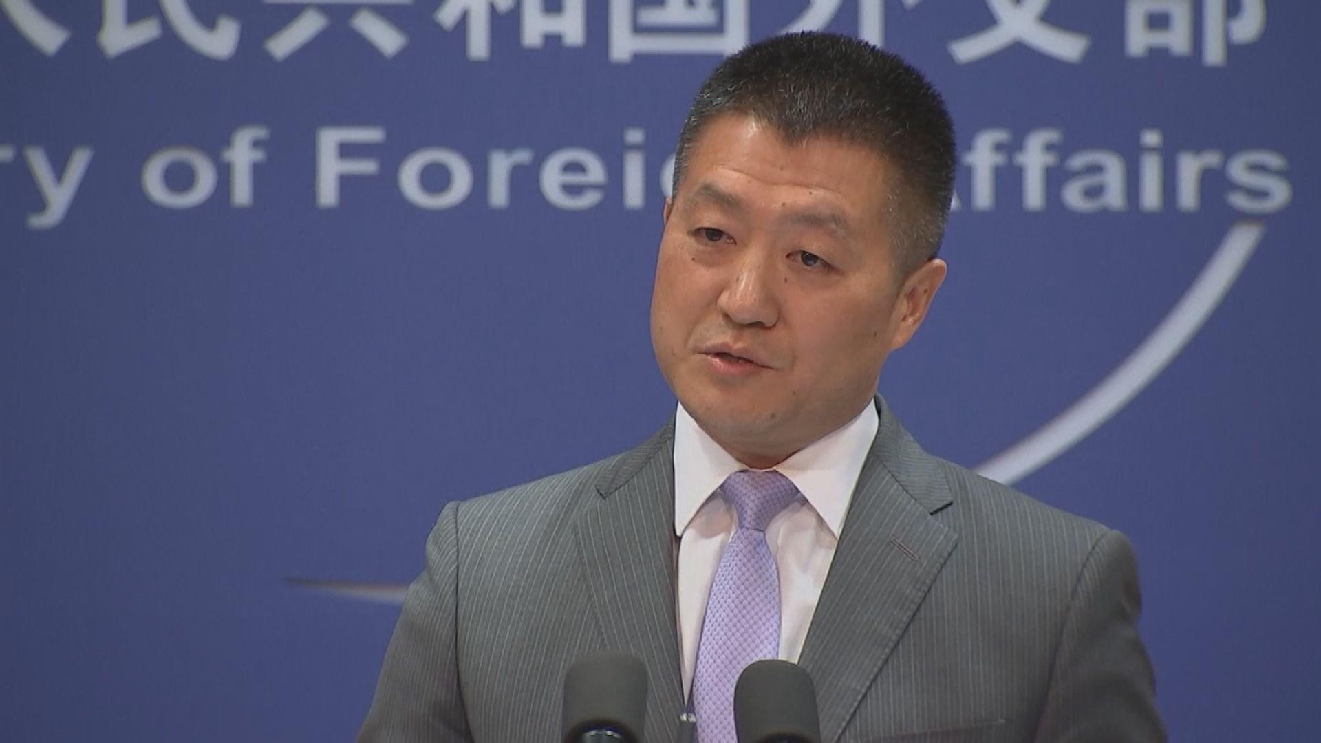 外交部:台灣問題須按一個中國原則處理