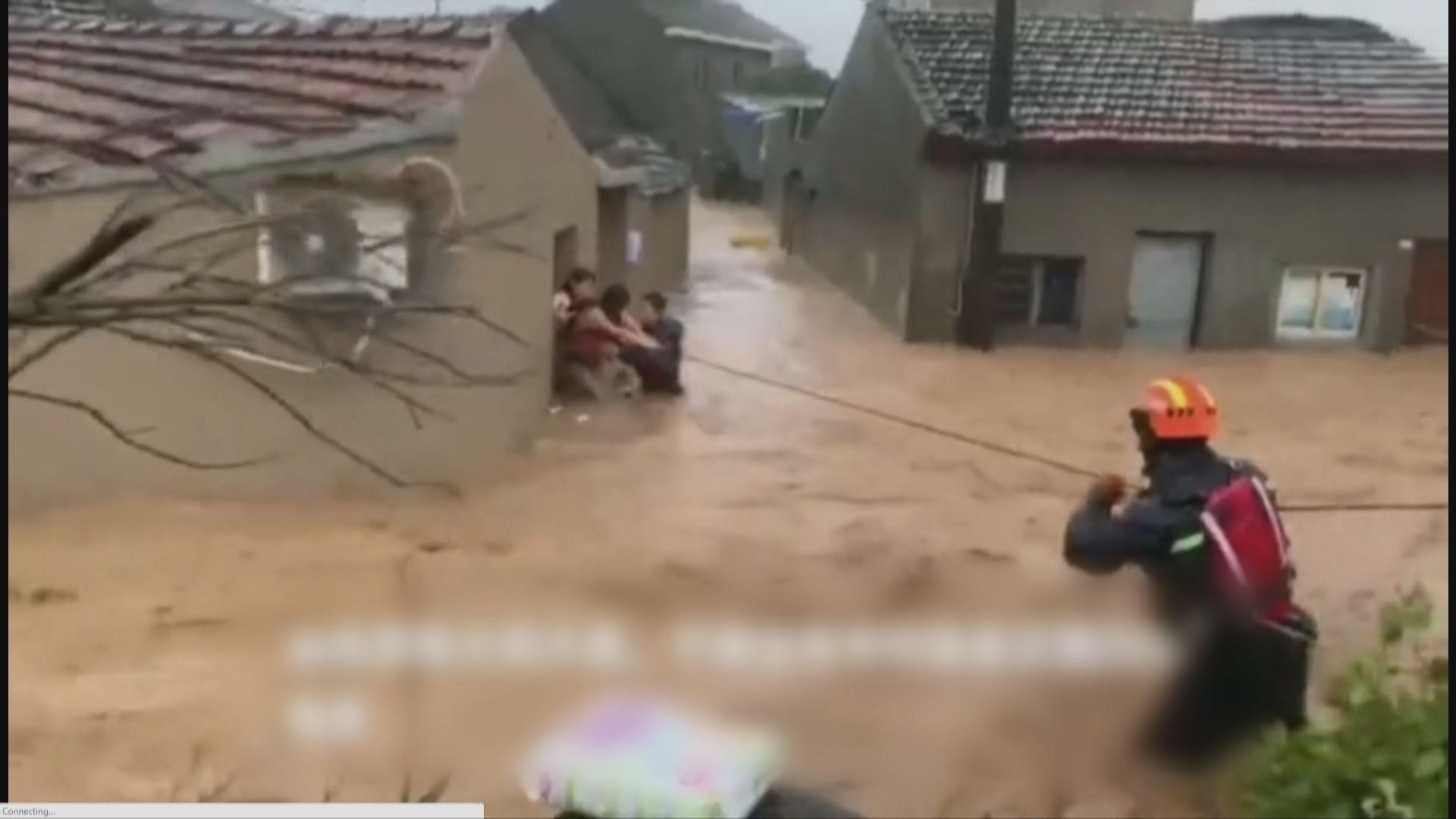 利奇馬登陸浙江多區水浸停電