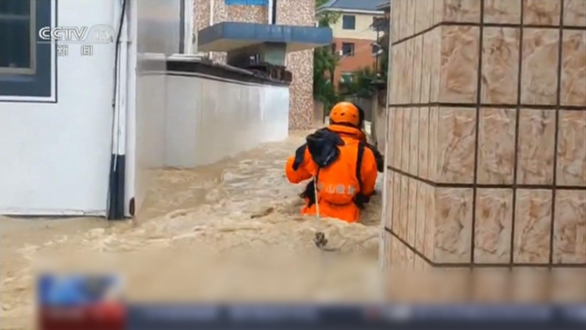 煙花吹襲浙江多處嚴重水浸 晚上將再次登陸