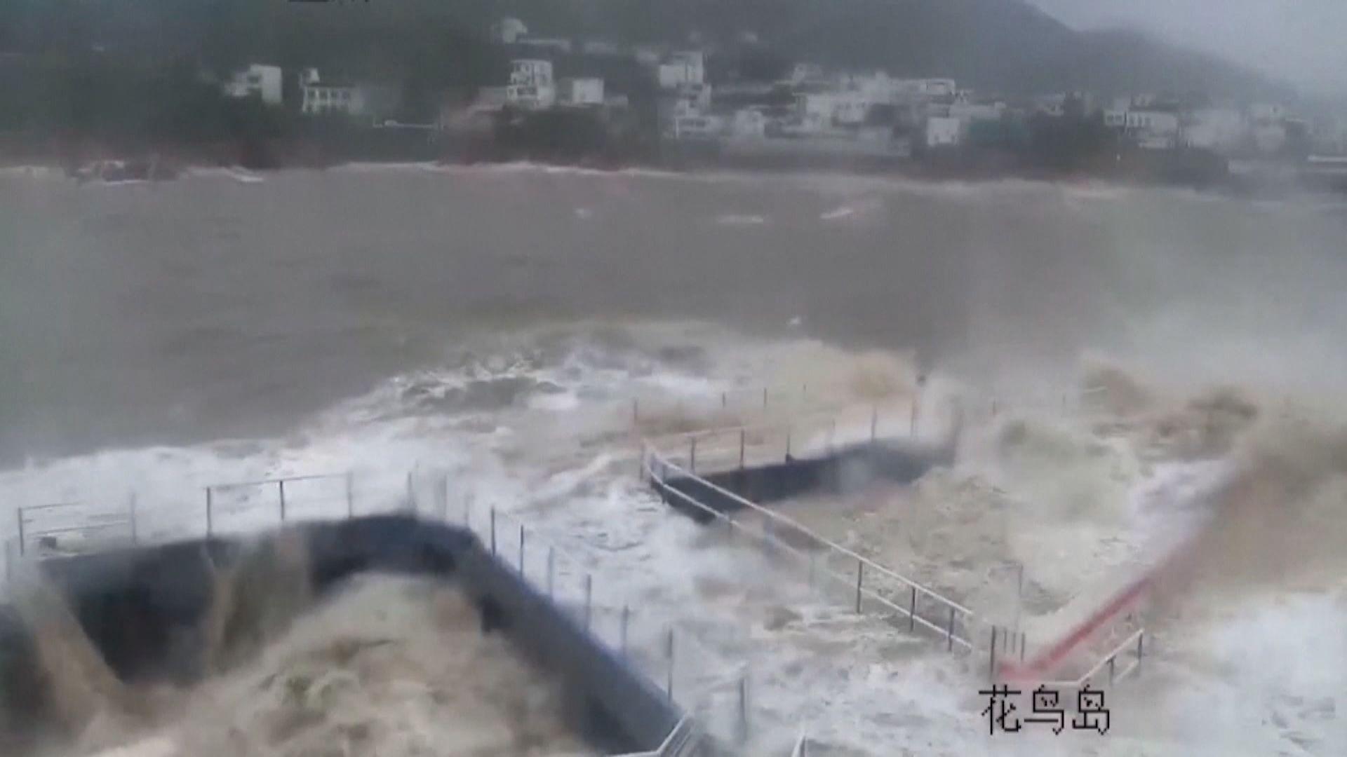 颱風煙花再登陸浙江平湖市 料為華東地區帶來暴雨
