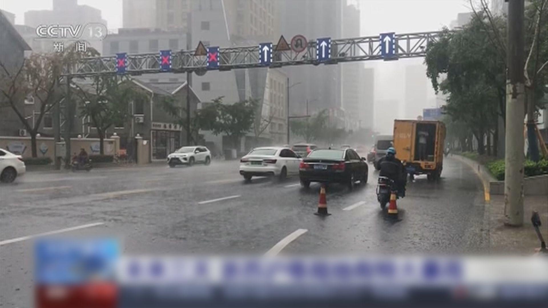 強颱風燦都逼近 浙蘇滬局部地區預計未來三日有特大暴雨