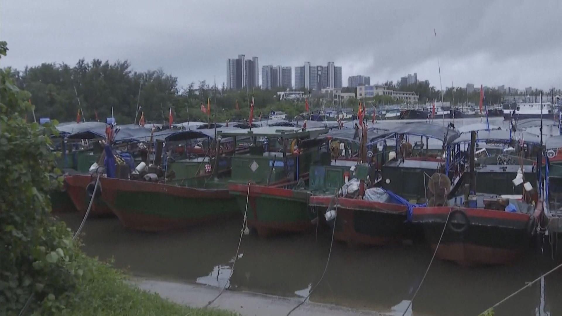 獅子山登陸海南省 多處出現狂風暴雨