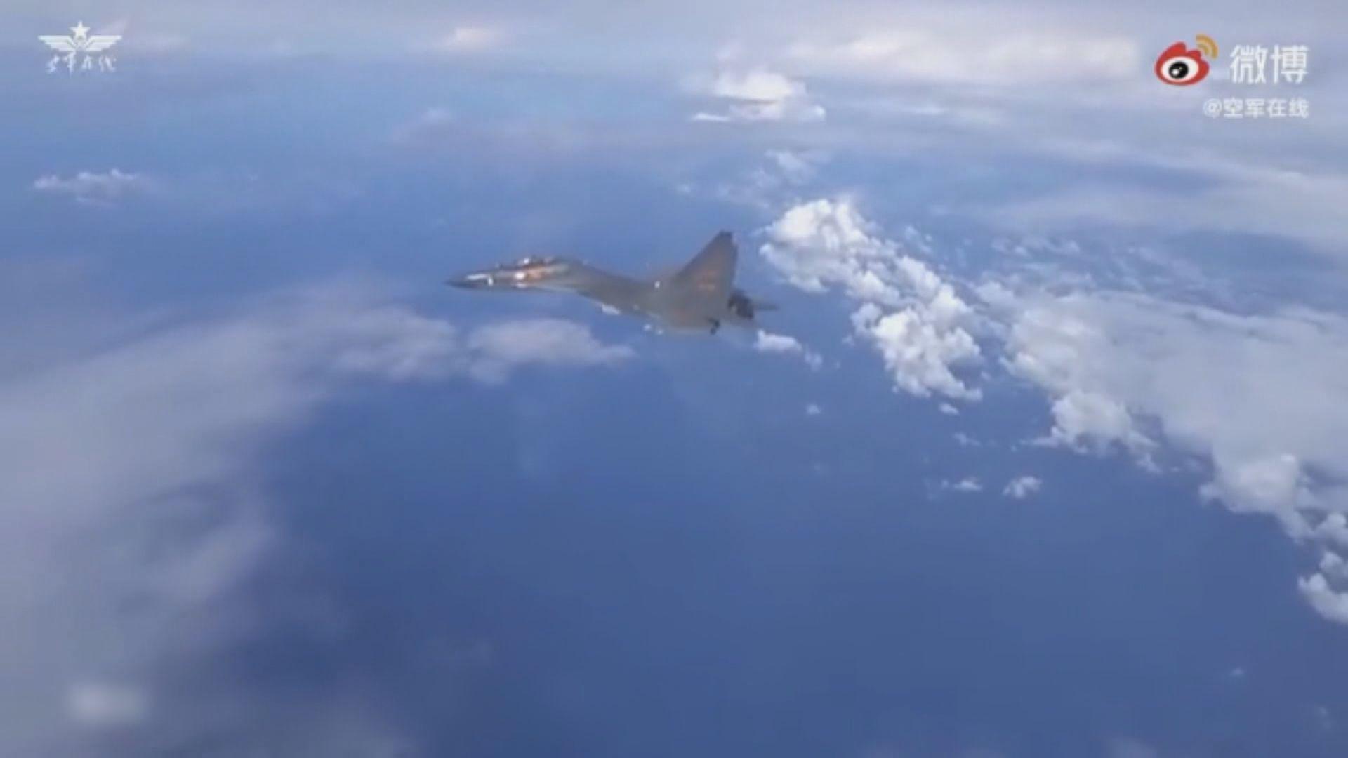 解放軍戰機模擬驅離兩架進入中國空域飛機