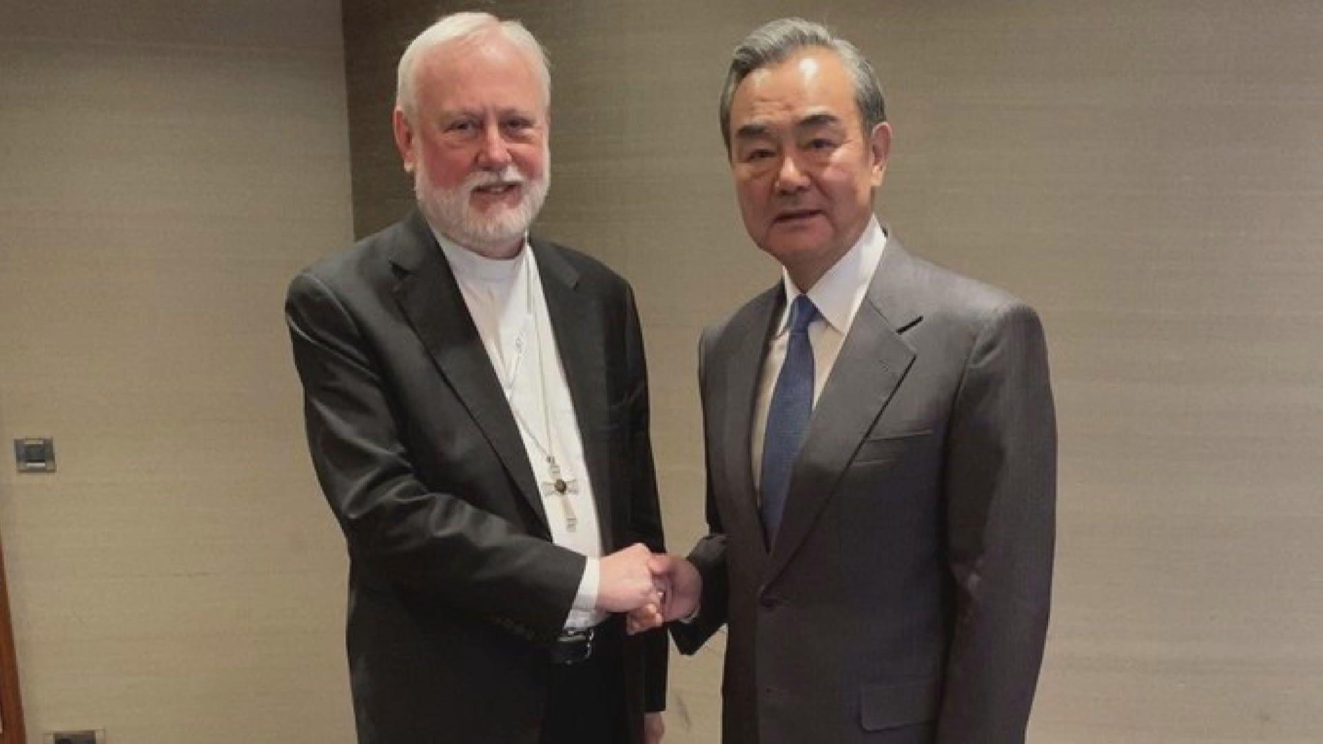 王毅與梵蒂岡外長會面 是雙方數十年來最高級別會晤