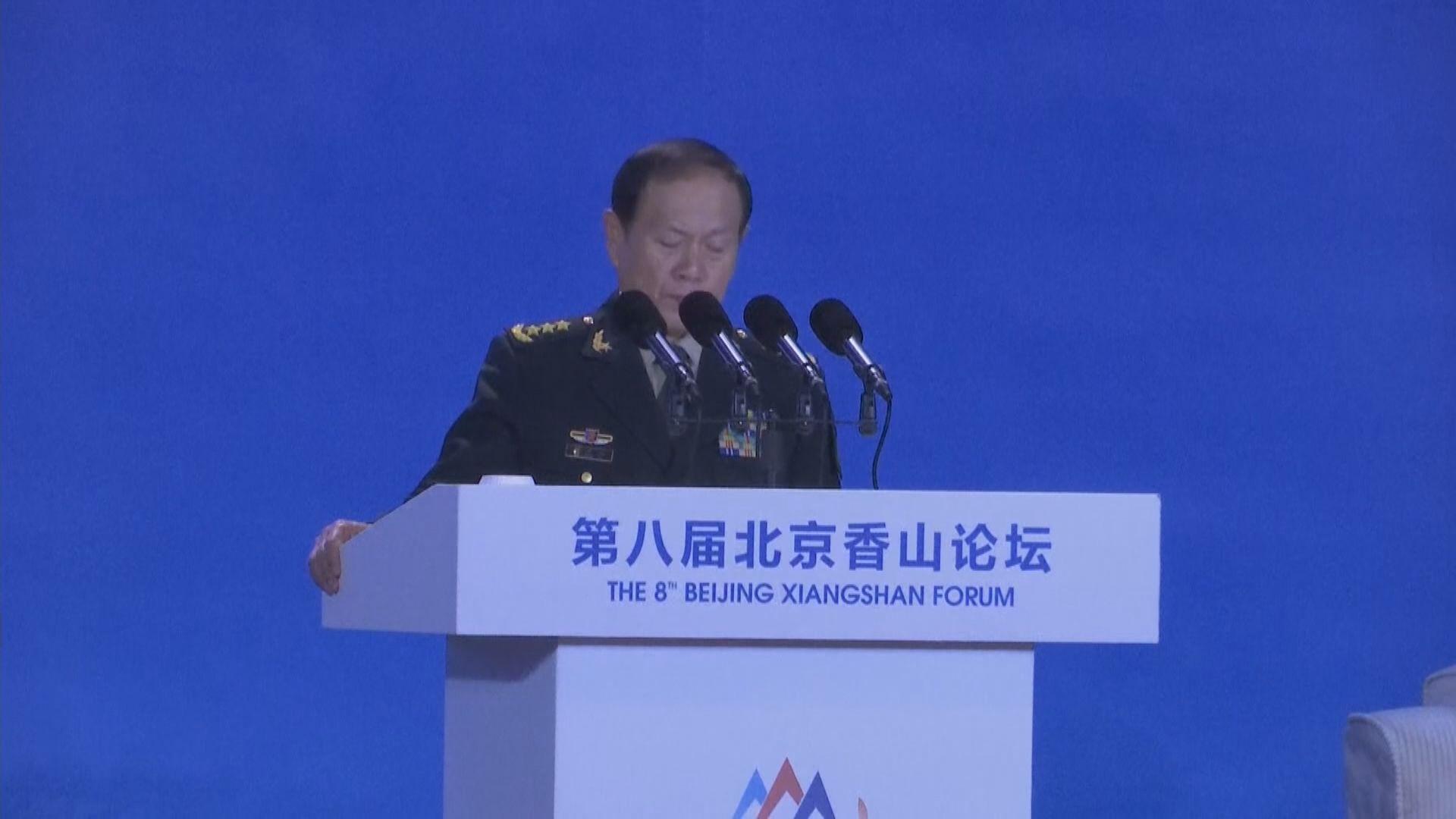 魏鳳和警告軍方不容分裂台灣企圖