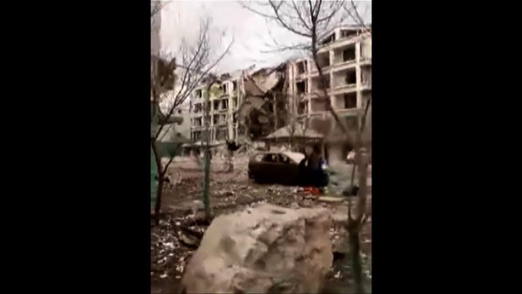 內蒙古疑天然氣管道爆炸樓宇倒塌