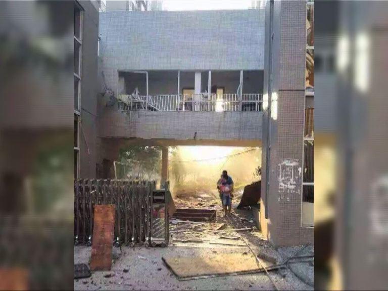 廣西柳城縣連環爆炸六死數十傷