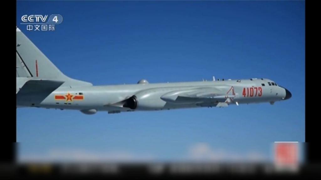 轟-6K首次南海島礁起降訓練