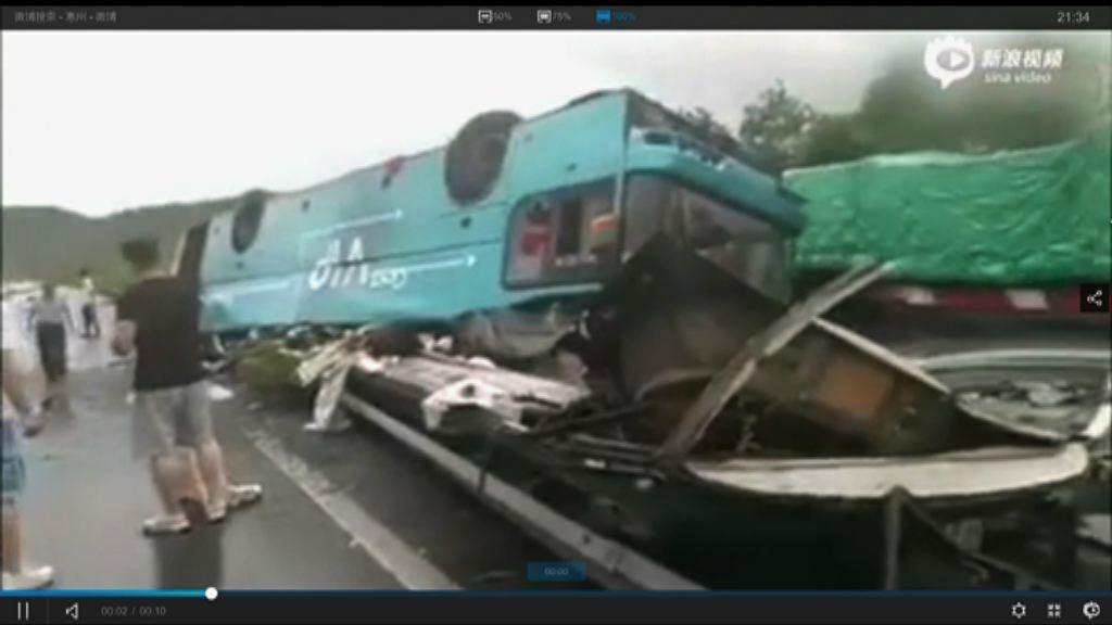 廣河高速龍門段巴士翻轉多人死傷