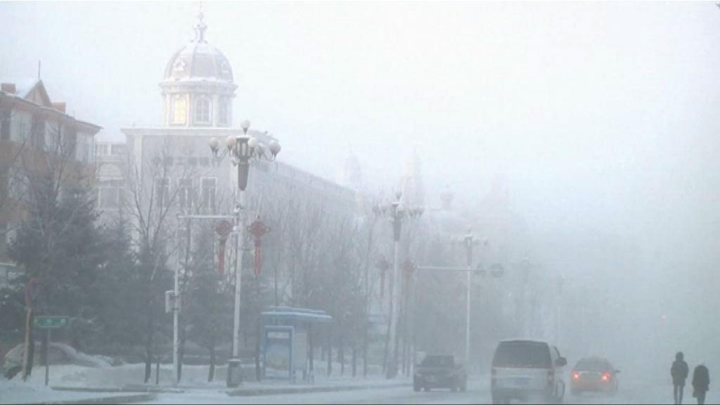 黑龍江多區氣溫降至零下40度