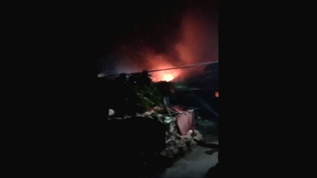 福建疑有直升機墜毀後爆炸