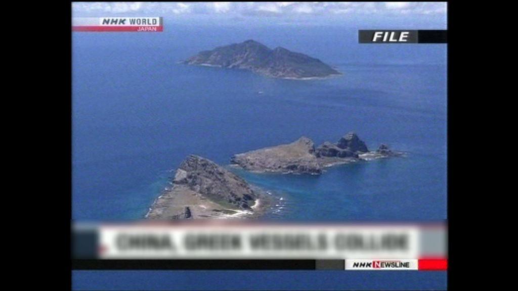 中國漁船在釣魚島附近海域遭撞沉 六人獲救