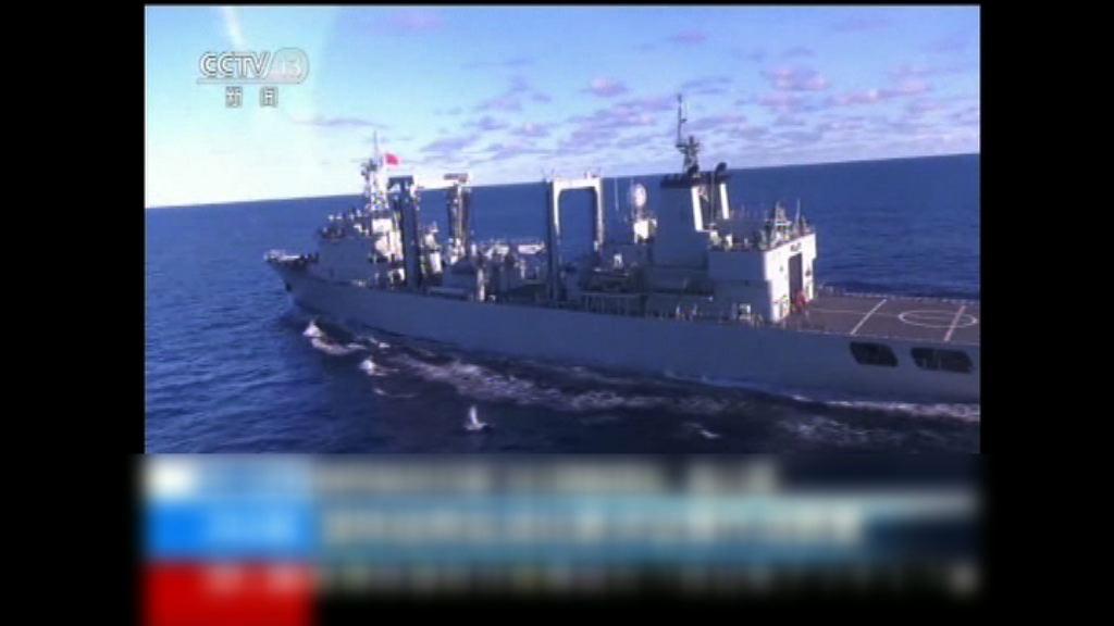 央視播出中國海軍西太平洋演練片段