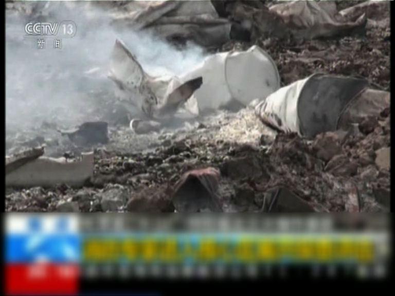 天津爆炸核心區仍然有煙冒出