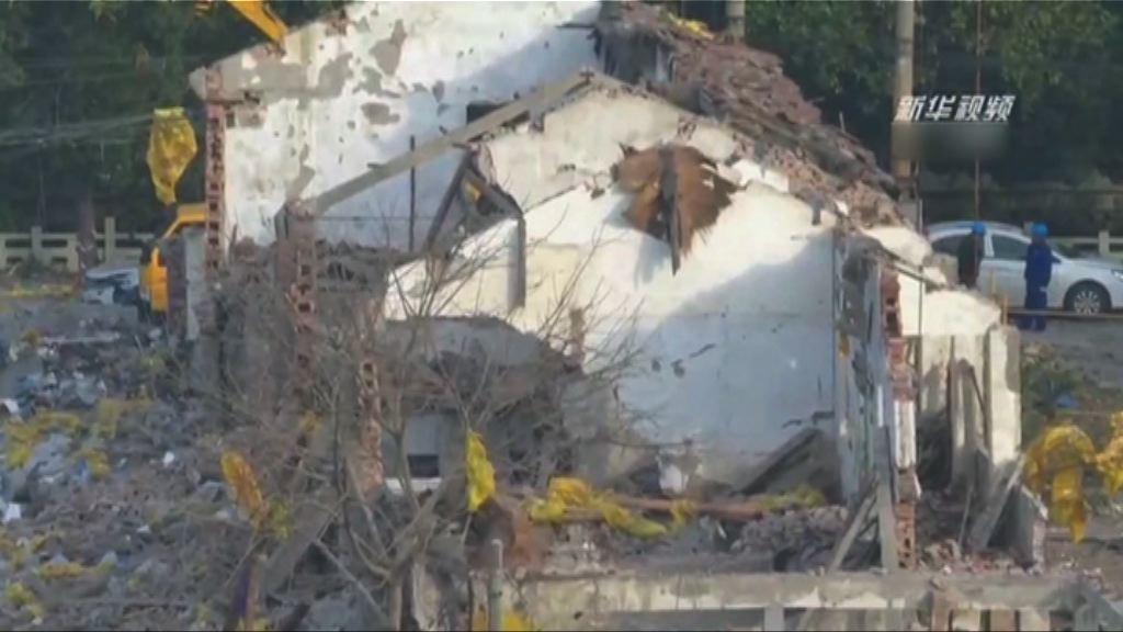 寧波發生爆炸 當局指現場無明火及燃氣管道