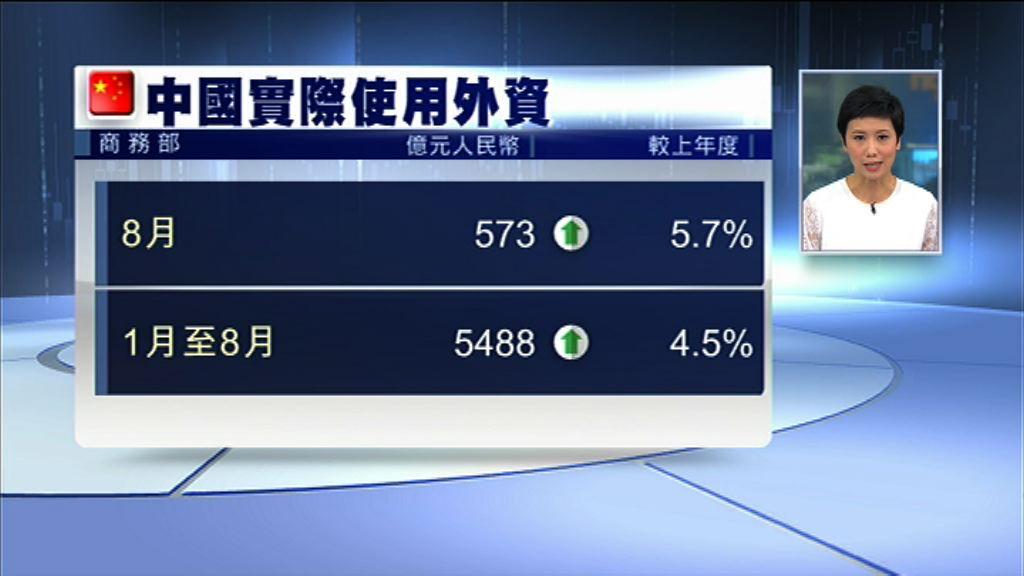 內地上月FDI增5.7% 勝預期
