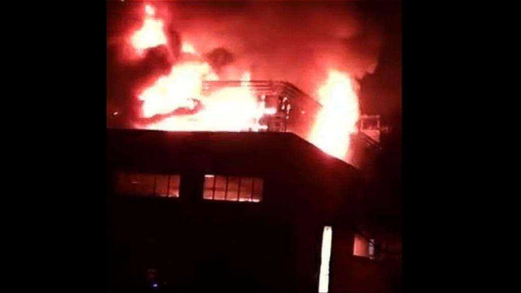 山西中北大學發生大火 無人傷亡