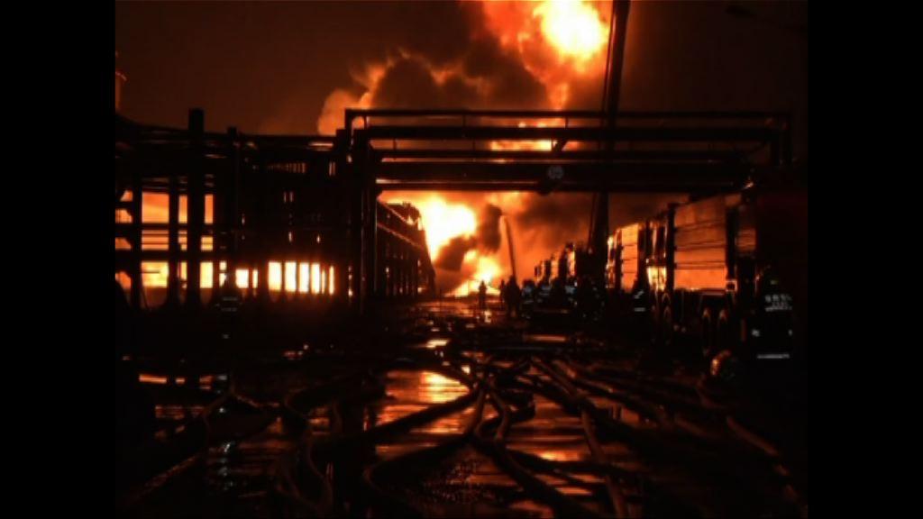 江蘇化學品倉庫爆炸起火
