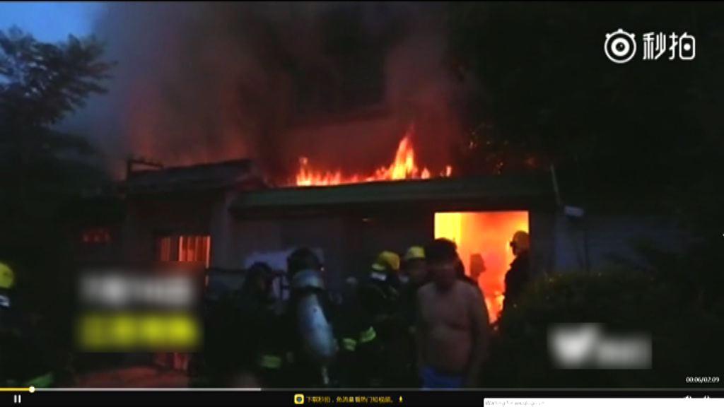 江蘇民房大火 現場有汽油焚燒痕迹