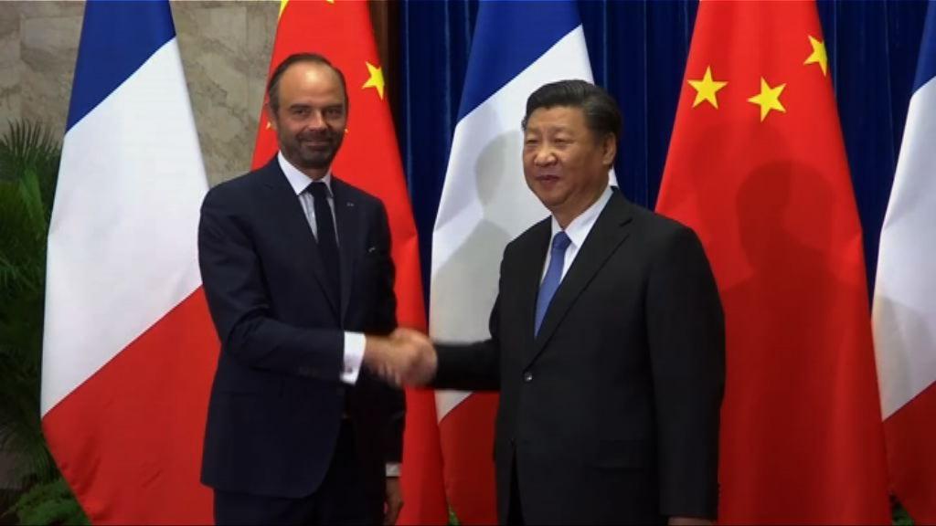 法國總理菲利普訪華與習近平會談