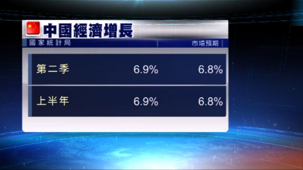 內地上半年經濟增長6.9%勝預期