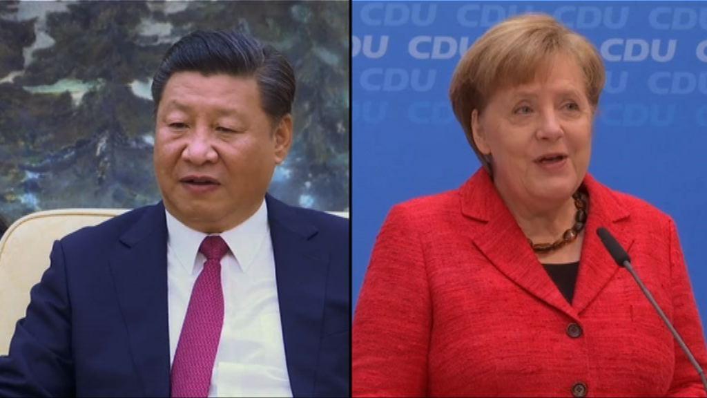 中德領袖商討朝鮮半島及國際貿易議題