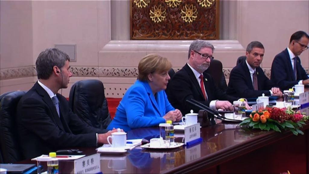 默克爾訪華討論法治貿易議題