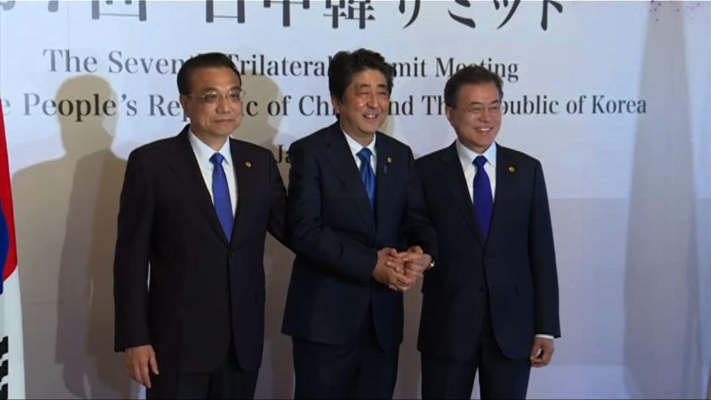中國建議年底舉行中日韓領導人會議