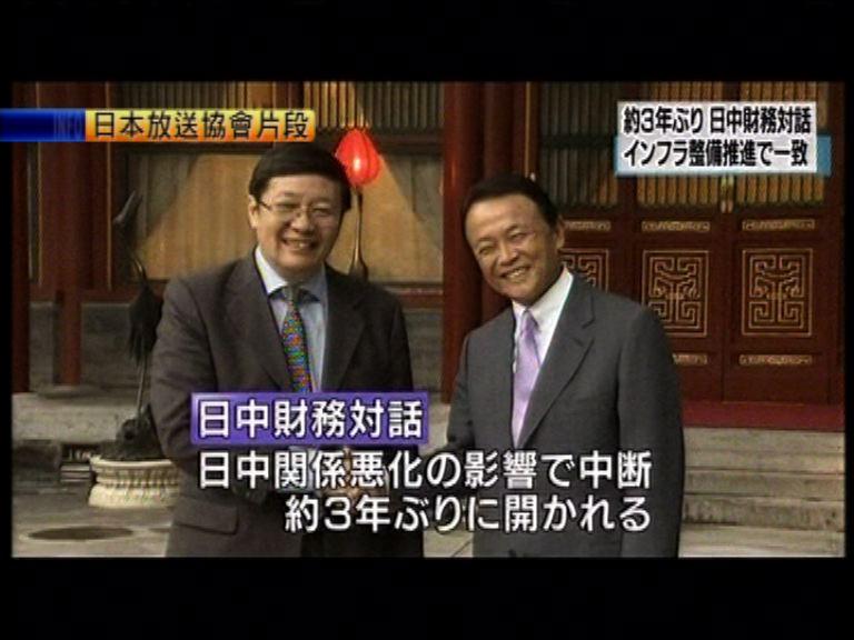 中日財長對話在北京舉行