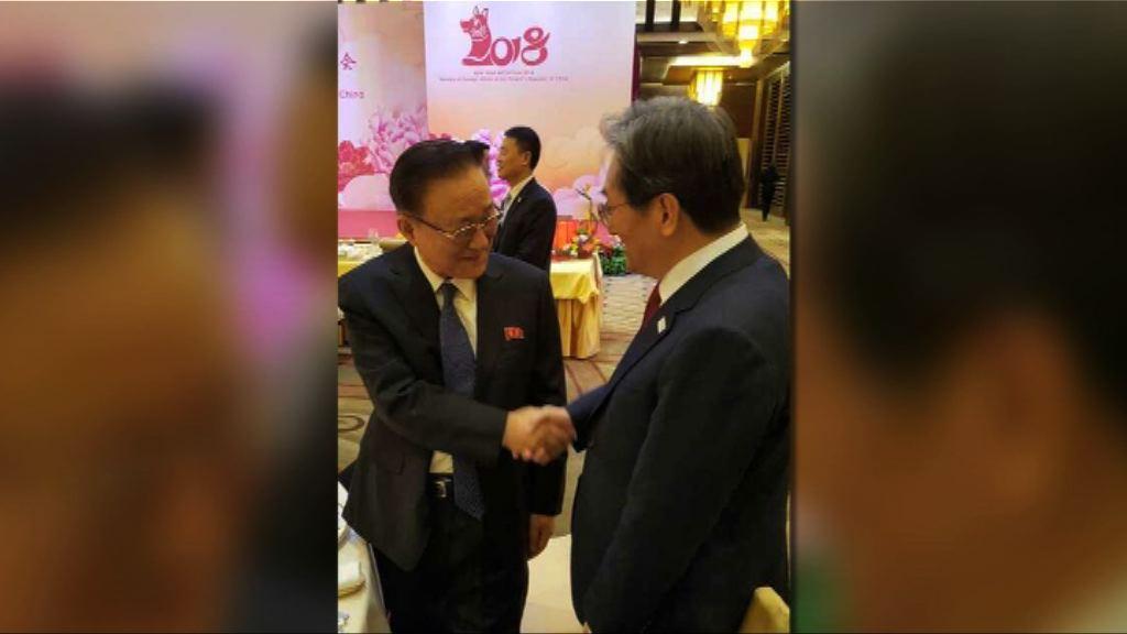 北韓駐華大使池在龍出席外交部新年招待會