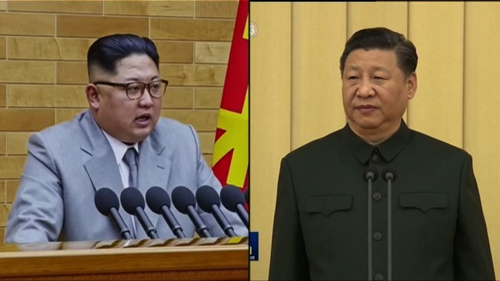 金正恩賀習近平當選國家主席