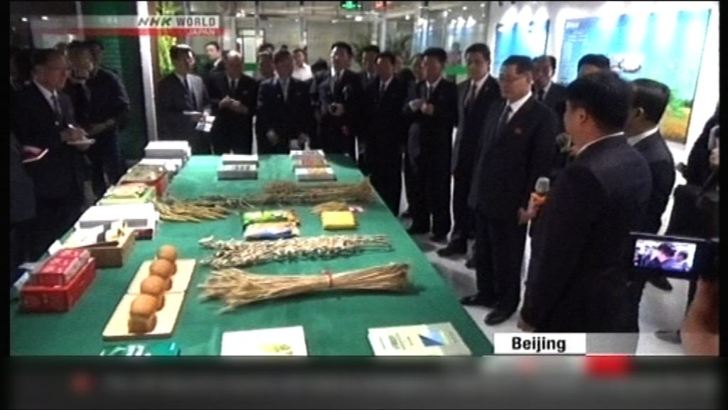 北韓友好參觀團考察中國經濟建設