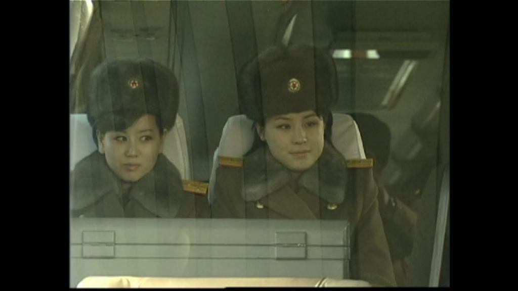 全女班北韓牡丹峰樂團抵京公演