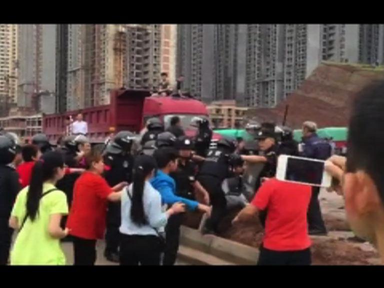 四川鄰水縣連續兩天抗議鐵路規劃