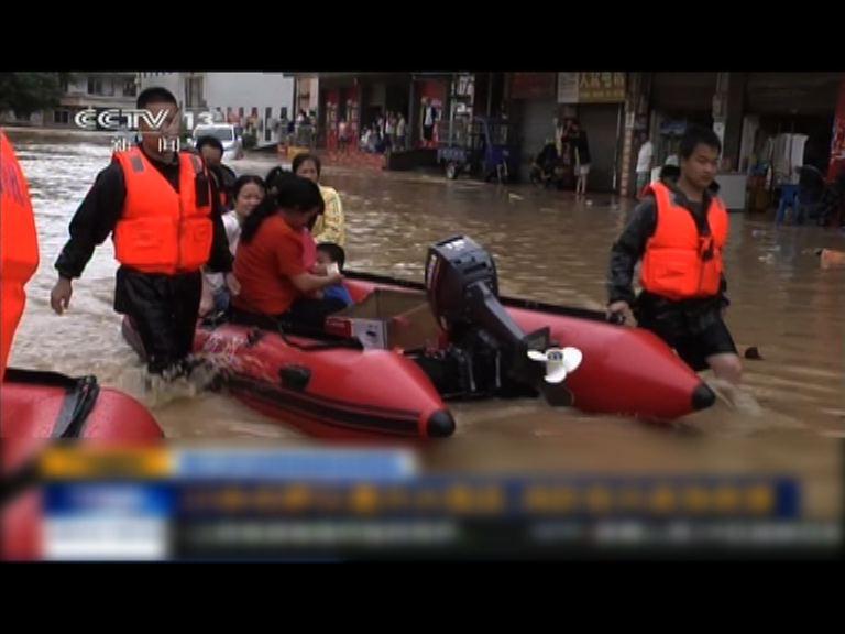 華南暴雨持續過百萬人受災