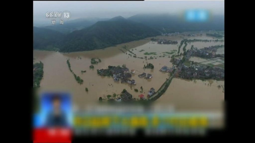 內地南部多省暴雨成災