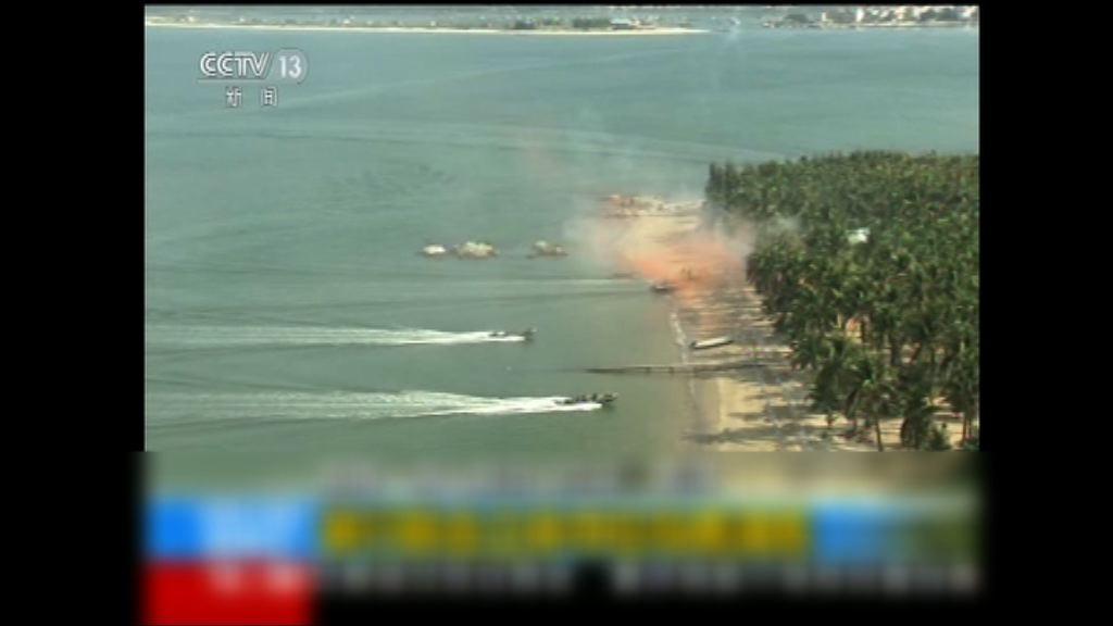 中俄海軍舉行奪控島礁演習