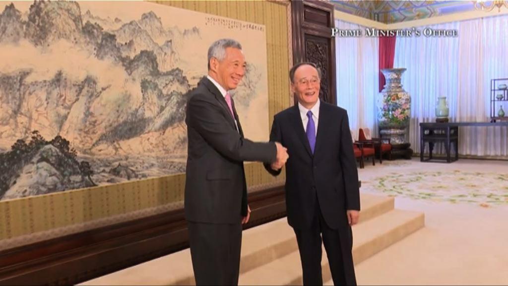 李顯龍訪華稱堅持一中政策反對台獨