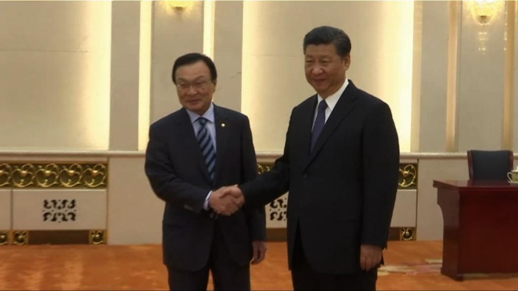 習近平接見南韓總統特使