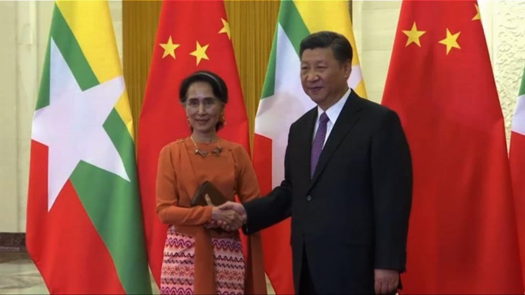 習近平晤昂山素姬討論中緬邊境安全