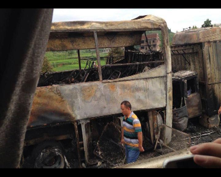 湖南貨車巴士相撞38死5傷