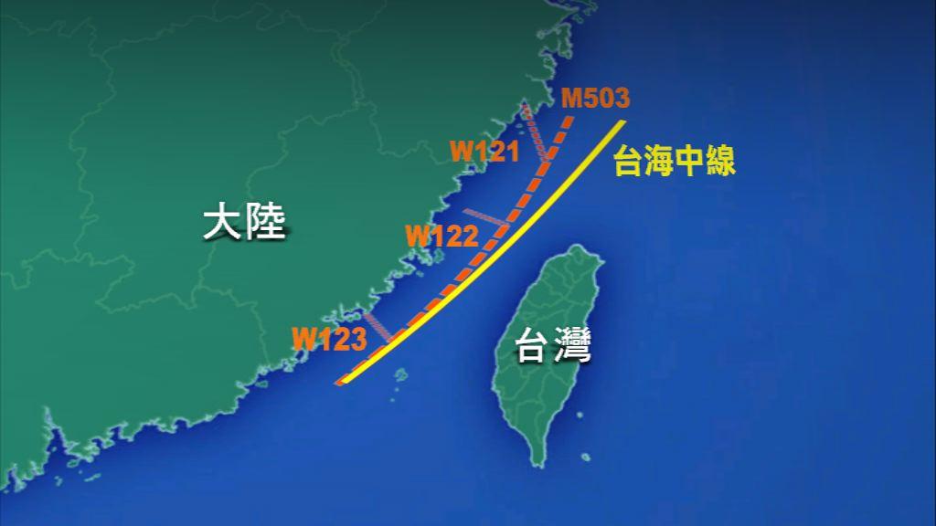 大陸單方面啟用M503北行航線