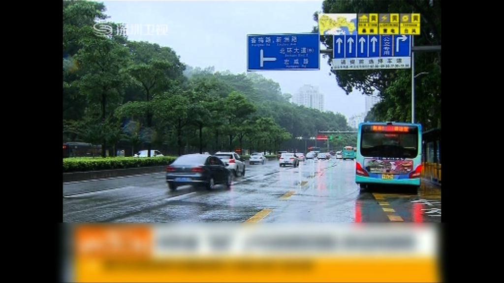 洛克登陸料為深圳廣州帶來暴雨