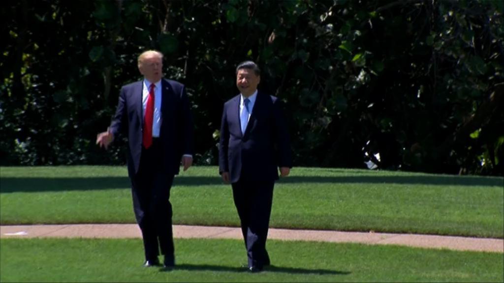 特朗普期待稍後訪華與習近平會面