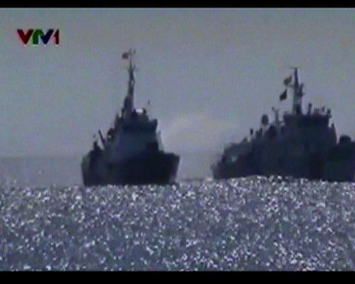 中越船隻西沙群島互射水炮