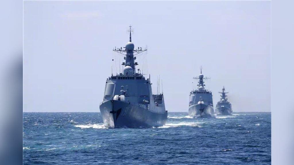 三艘「中華神盾艦」日前於東海軍演