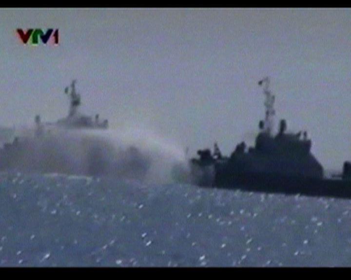 中越艦隻西沙群島互射水炮