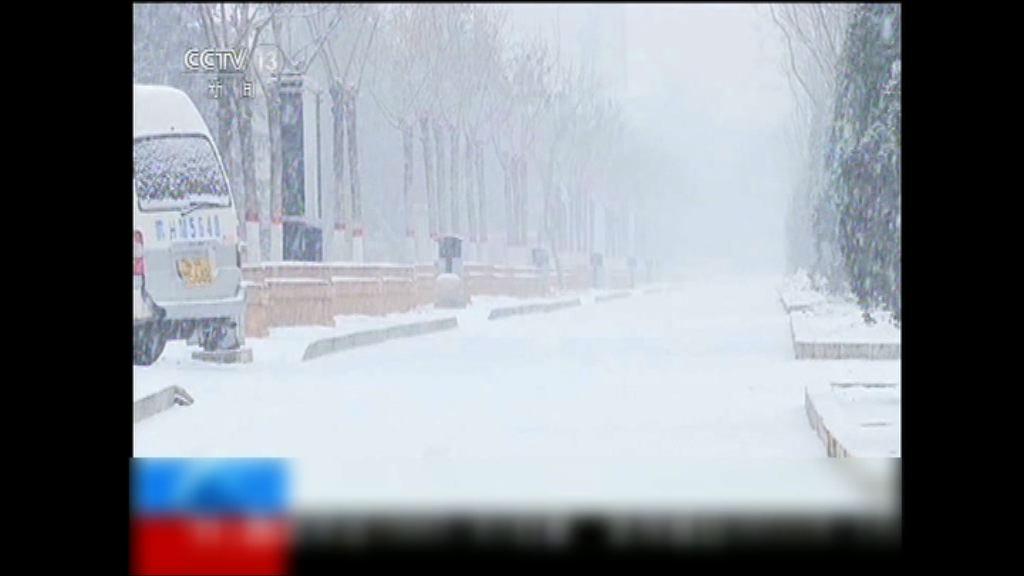 內地中東部地區出現降雪天氣