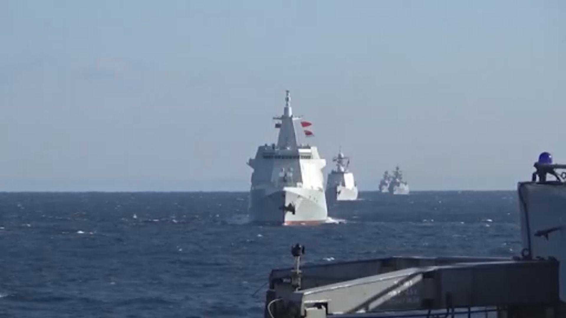 中俄軍艦於日本海等海域聯合巡航