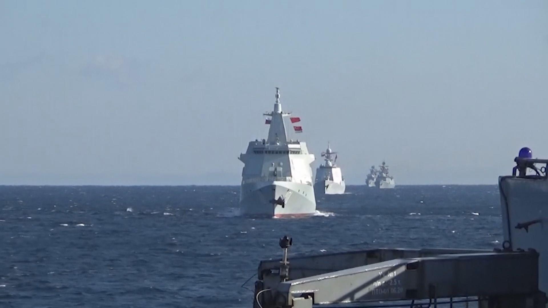 中俄軍艦艘通過津輕和大隅海峽 日本加強警戒監視